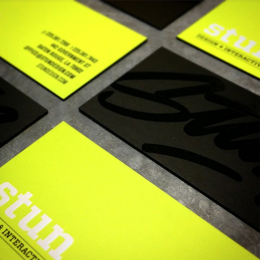 STUN Design creates gorgeous, stopping-power business cards